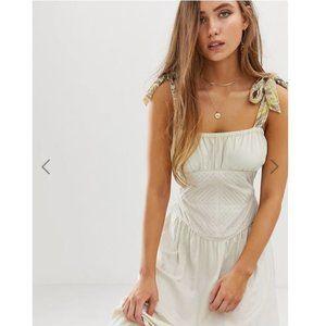 Free People Santorini Maxi Dress 8 NEW Linen Ivory